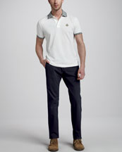 Moncler Tipped Logo Polo & Slim Cotton Pants