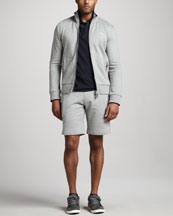 Moncler Flag-Trim Track Jacket & Sweatshorts
