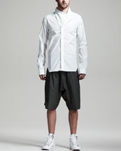 Rick Owens Megacowl Shirt & Basket Swinger Shorts