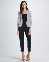 Tory Burch Hayley Print Jacket, Daylen Knit Tank & Hayley Cropped Pant