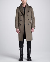 Belstaff Sutherland Long Trenchcoat, Bradley Racing Stripe Woven Print Shirt & Remston Trousers