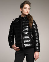 Moncler Laque Hooded Puffer Jacket