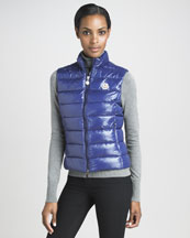 Moncler Laque Puffer Vest, Royal