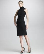 Armani Collezioni Sleeveless Turtleneck Dress