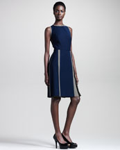 Fendi Sleeveless Dress with Inverted Pleats