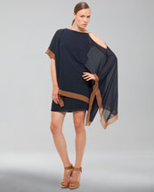 Akris Dress with Asymmetric Shoulder