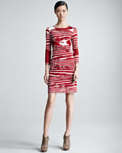 Missoni Long-Sleeve Dress with Appliques