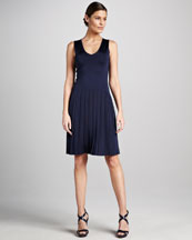 Ralph Lauren Black Label Sleeveless Dropped-Waist Dress
