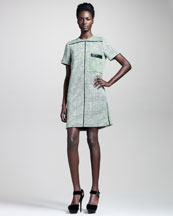 Proenza Schouler Basketweave Tweed Shift Dress