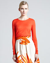 Lela Rose Silk Sweater