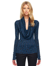 Michael Kors   Space-Dye Cowl-Neck Top