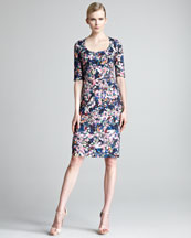 Erdem Etta Floral-Print Dress