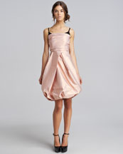 Burberry Prorsum Ruched Taffeta Dress
