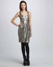 Burberry Prorsum Sequined Floral Bustier Dress