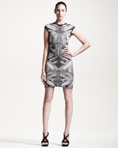 Alexander McQueen Short Dragonfly Wing-Knit Dress