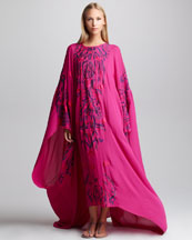 Emilio Pucci Embroidered Silk Caftan