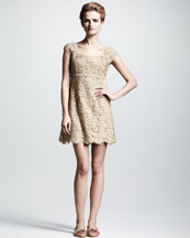 Dolce & Gabbana Lace Cap-Sleeve Dress