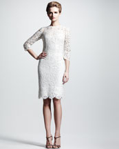 Dolce & Gabbana Three-Quarter Lace Dress