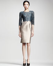 Dolce & Gabbana Lace/Mikado Sheath Dress