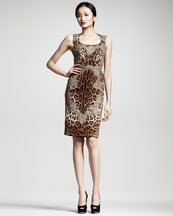 Dolce & Gabbana Lace-Trim Leopard-Print Dress