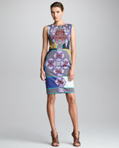 Etro Sleeveless Printed Sheath Dress