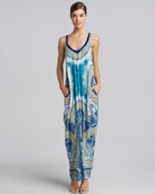Etro Sleeveless Front-Slit Maxi Dress