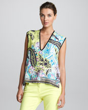 Etro Sleeveless V-Neck Top