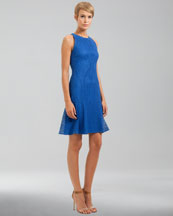 Akris punto Sleeveless Lace Dress, Royal
