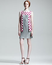 Fendi Paillette Sequined-Front Shift Dress
