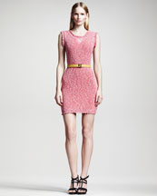 Fendi Metallic Knit Dress