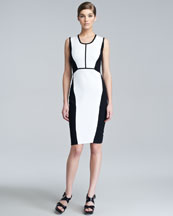 Narciso Rodriguez Contour Colorblock Knit Dress