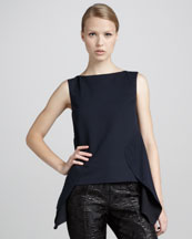 Marni Back-Peplum Sleeveless Top