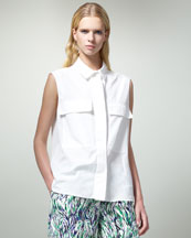 Stella McCartney Two-Pocket Sleeveless Blouse