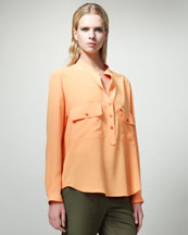 Stella McCartney Long-Sleeve Tunic Blouse