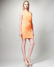 Stella McCartney Belted Plisse Dress