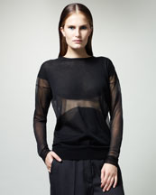 Stella McCartney Sheer Intarsia Top