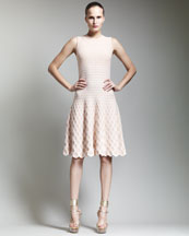 Alexander McQueen Sleeveless Full-Skirt Dress