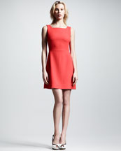 Victoria by Victoria Beckham Textured Wool Sleeveless Dress