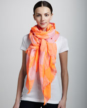 MARC by Marc Jacobs Stacey Gingham Scarf, Shocking Orange