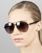 Fendi Aviator Sunglasses, Gunmetal