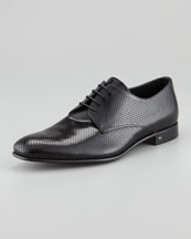 Prada Perforated Spazzolato Lace-Up