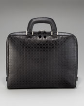 Salvatore Ferragamo Gamma One-Gusset Briefcase