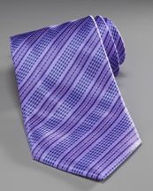 Stefano Ricci Striped Silk Tie, Purple