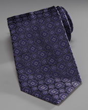 Stefano Ricci Medallion Silk Tie, Blue/Black