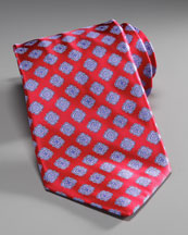 Stefano Ricci Medallion Silk Tie, Red/Blue