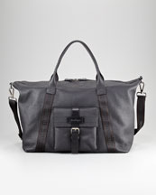 Salvatore Ferragamo Alpha Leather Duffel Bag