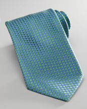 Charvet Mini-Neat Tie, Blue/Green