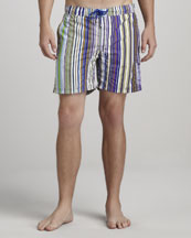 Etro Striped Swim Trunks