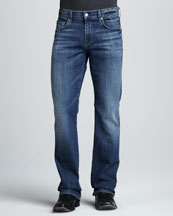 7 For All Mankind Brett A-Pocket Nakkita Gray Jeans
