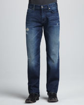 7 For All Mankind Austyn Flynt-Pocket Deep Blue Jeans